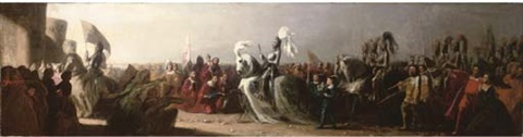 henry viii arriving in calais by benjamin robert haydon