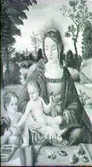 madonna and child with the young saint john the baptist in a landscape by raffaelino del garbo