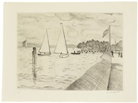 les bords de la seine (3 pl. d'une suite de 6) by albert marquet