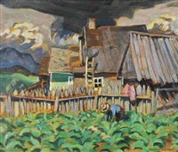 tobacco patch, st. urbain, p.q. by george douglas pepper