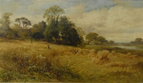 couple harvesting by john horace hooper