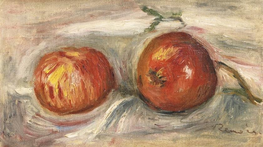 deux pommes by pierre auguste renoir