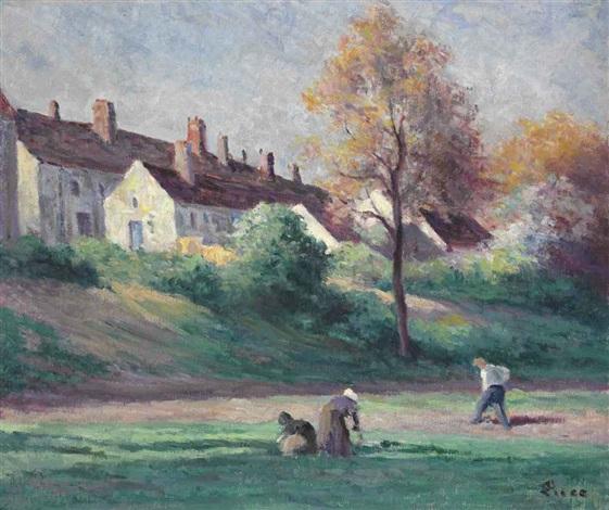 village au bord de la loire, saint-ay by maximilien luce