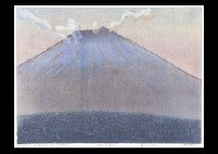 36 fuji in the sunset (+ 2 others, smllr; 3 works) by hideo hagiwara
