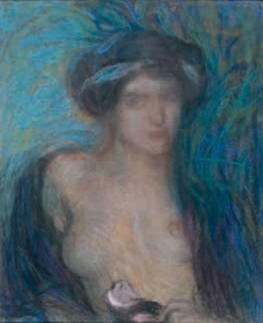 portrait de femme by edmond françois aman jean