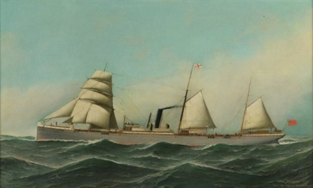 auxiliary iron screw steamer monmouthshire by antonio jacobsen