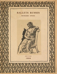 ballets russes xxii saison (w/wrapper by picasso) by sergei pavlovich diaghilev