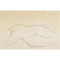 reclining nude by héctor xavier