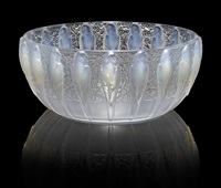 bowl: perruches by rené lalique