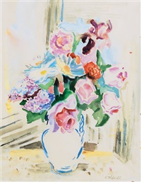 summerly still life with flowers by gretchen wohlwill