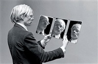 portrait d'andy warhol by philippe morillon