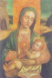 la madonna col bambino by ambrogio da (il bergognone) fossano