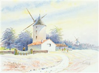 moulin à noirmoutiers by pierre badenier