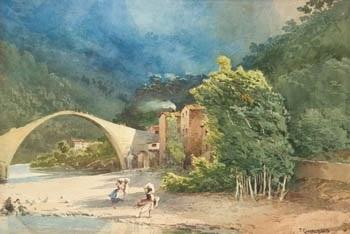 lavanderas en el río by tomas campuzano y aguirre