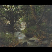 a forest stream by gyula glatter