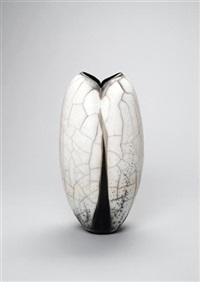 a pod-shaped vase by david roberts