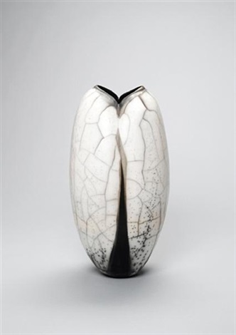 a pod shaped vase by david roberts