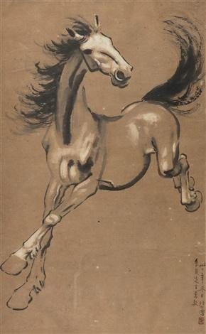 神骏 a running horse by xu beihong