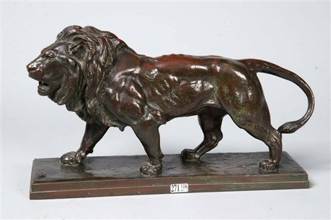 lion marchant by antoine louis barye
