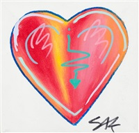 two hearts (2 works) by steve kaufman