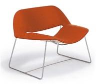 2 lips armchairs by cazzaniga