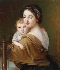 mutter und kind by johann baptist reiter