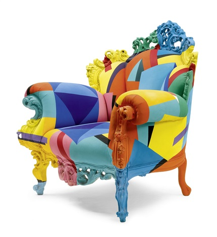 fauteuil (model proust (geometrica)) by alessandro mendini