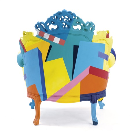 fauteuil model proust geometrica by alessandro mendini