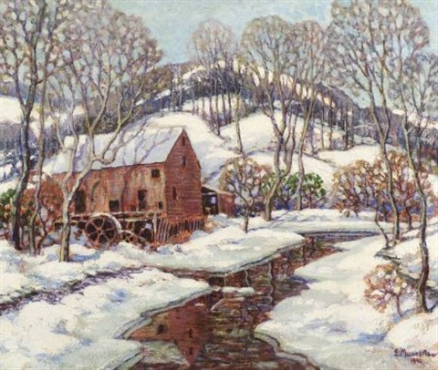 the mill in winter by e maxwell albert