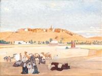 halte de chameliers près de ghardaïa by francois marie léon de marliave