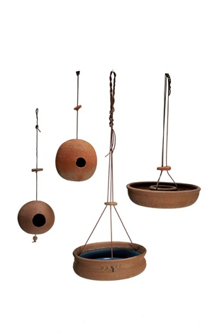 group of four bird feeders by stan bitters