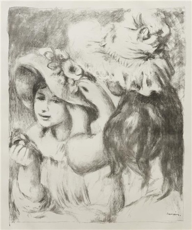 le chapeau epingle 2e planche by pierre auguste renoir