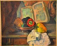 nature morte aux poivrons by marcel arnaud