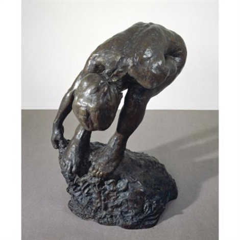 untitled woman bending by eric fischl