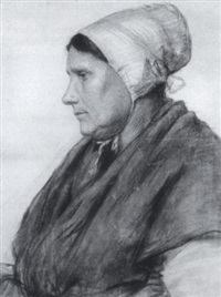 portrait of a peasant woman by ernest lee major
