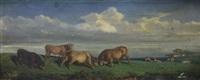 vaches dans le pré by leon sabatier