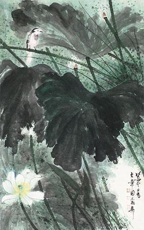 白荷水禽 by xie zhiliu