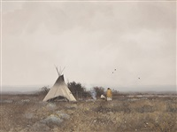 summer indian encampment by don ricks