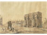 the arch of constantine by abraham ducros & giovanni volpato