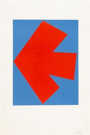 orange over blue by ellsworth kelly