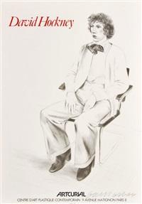 exhibition poster artcurial printed by david hockney