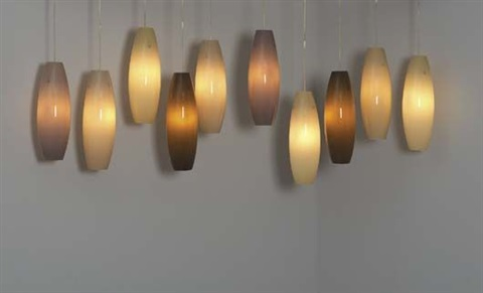 set of ten hanging lights by jeff zimmerman
