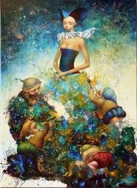 la robe-peinture by oxana yambykh