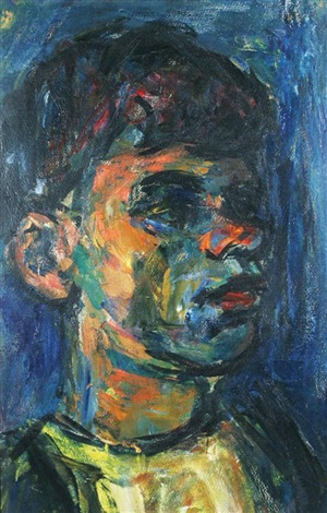 portrait of a young man by pinchas litvinovsky