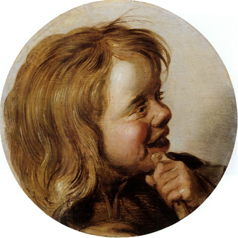 lachendes kind mit flöte by frans hals the elder