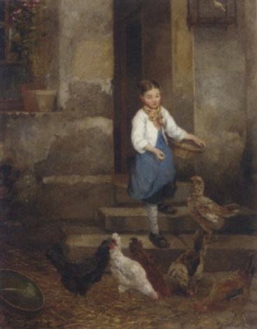 feeding the chickens by camille léopold cabaillot lassale