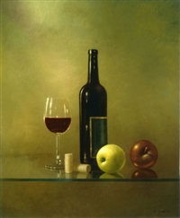 wine and apples by moni leibovitch