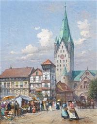 marktplatz in paderborn by detlev nitschke