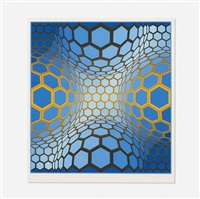 untitled (geometric composition) by victor vasarely