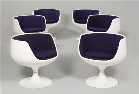cognac chairs bubble chairs set of 6 by eero aarnio